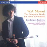 Jean-Jacques Kantorow (violin) - Mozart: Complete Works For Violin & Orchestra (Japan Import)