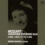 Reine Gianoli - Mozart: Complete Variations for Piano Vol.2 (Japan Import)