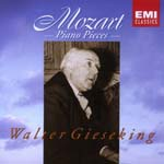 Walter Gieseking (piano) - Mozart: Piano Pieces (Japan Import)