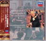 Georg Solti (conductor), Vienna Philharmonic Orchestra - Mendelssohn: Symphony No. 4 / Shostakovich: Symphony No. 5 [SHM-CD] [Limited Release] (Japan Import)